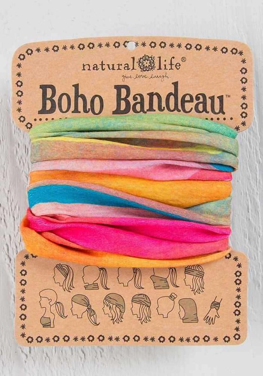 Hot Pink Rainbow Ombre Boho Bandeau