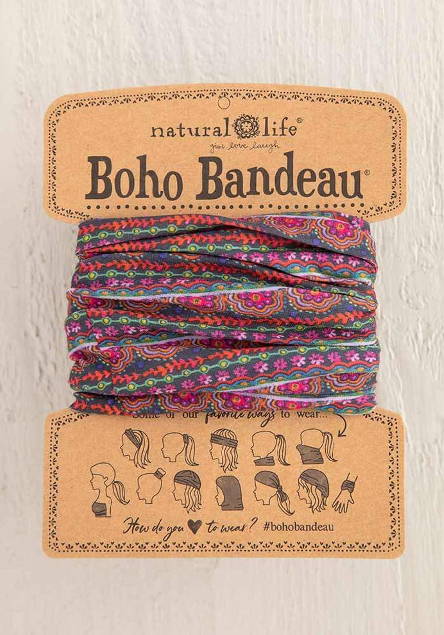 Multi Scalloped Row Print Boho Bandeau