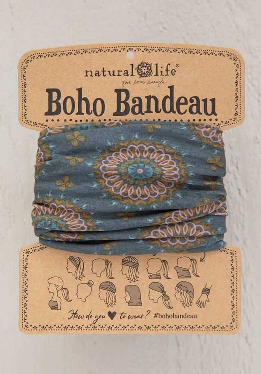 Sage Gold Medallion Boho Bandeau