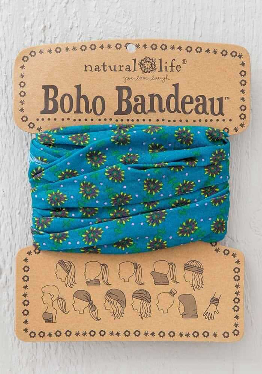 Turquoise Daisies Boho Bandeau