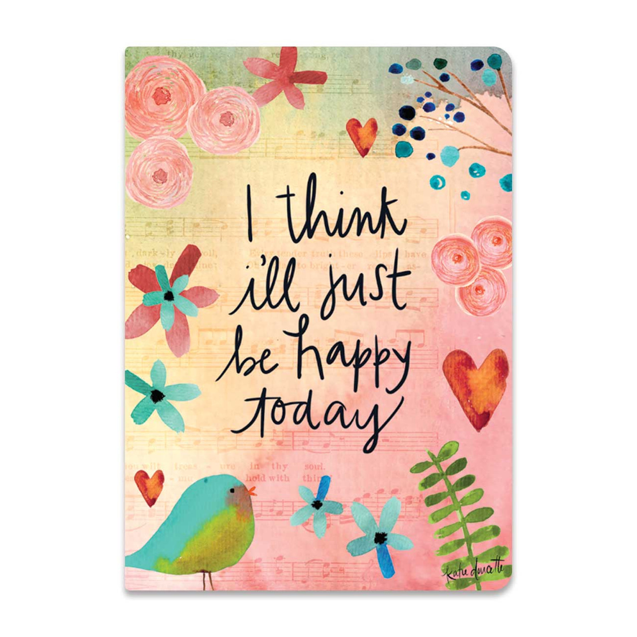 I think i'll just be happy today softcover journal brownlow gifts