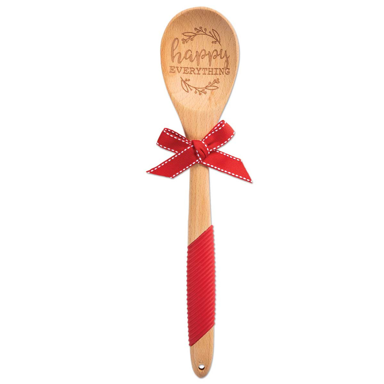 happy everything wooden sentiment spoon