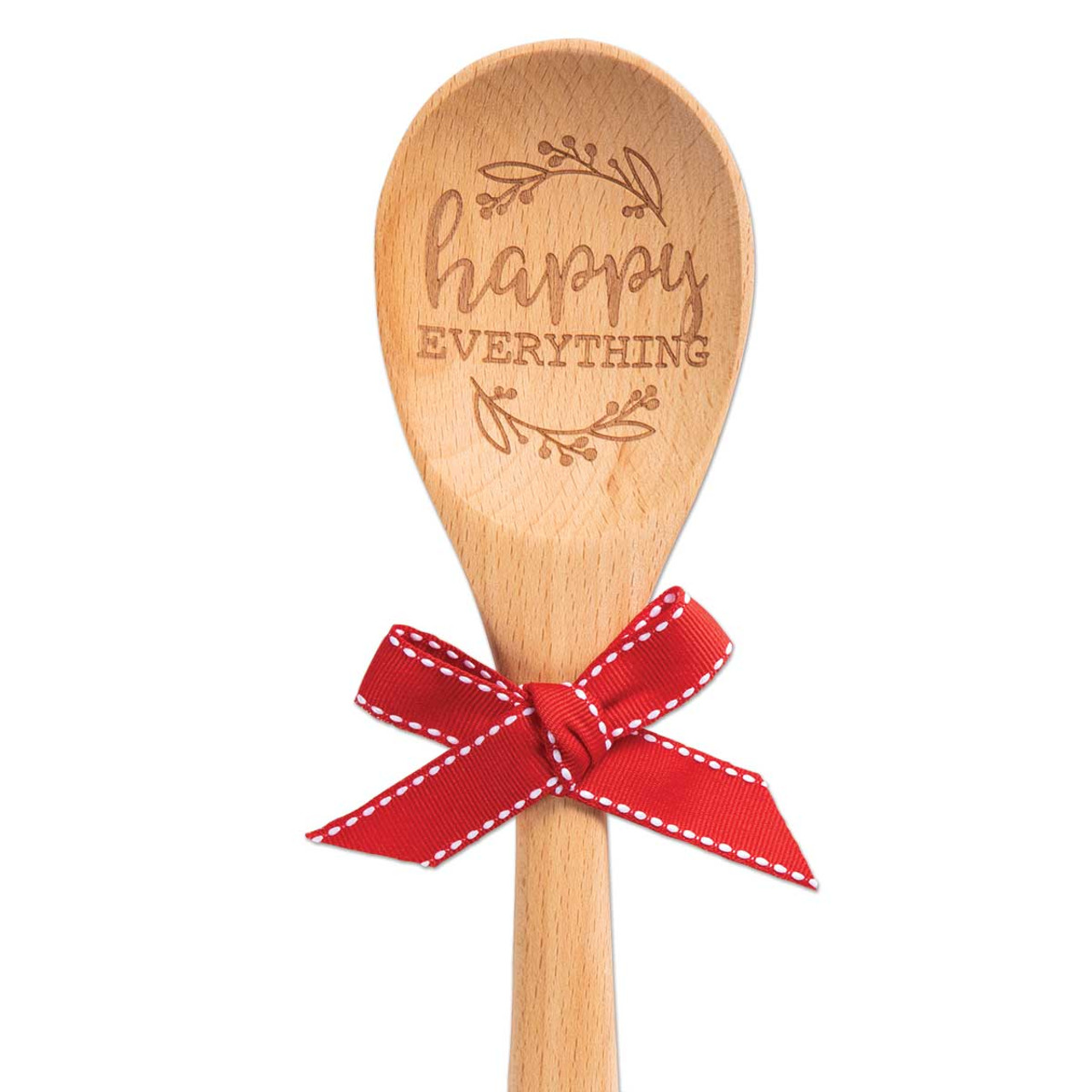 happy everything sentiment spoon wooden