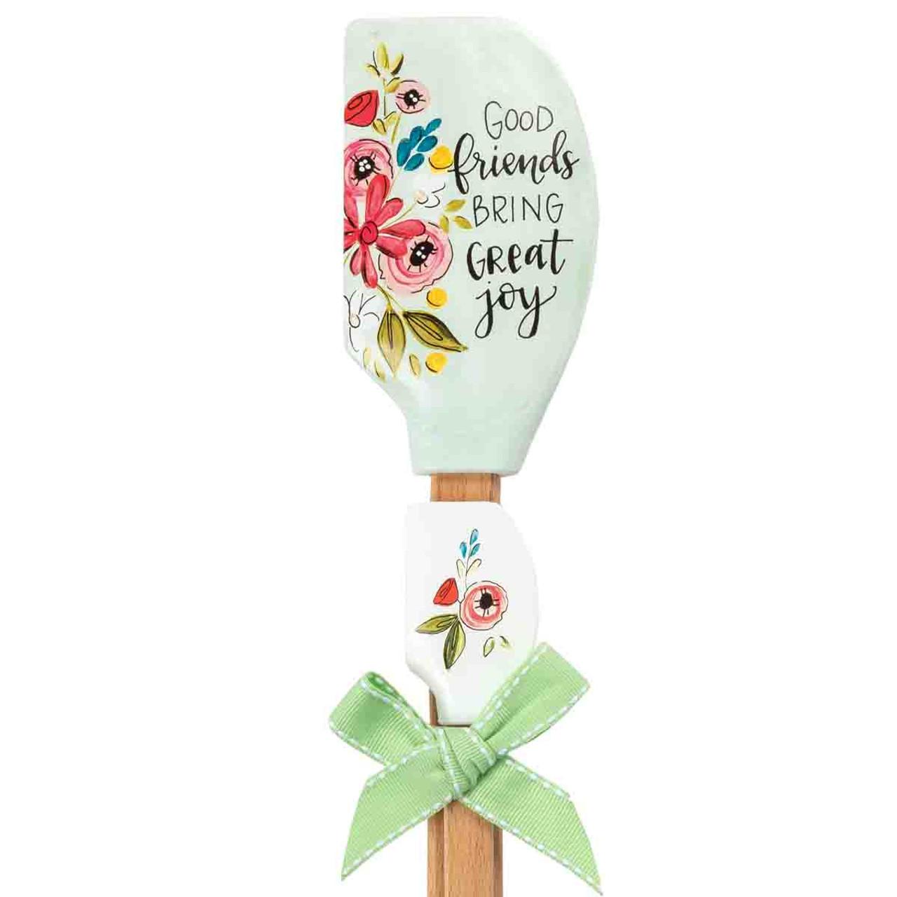 good friends bring great joy kitchen buddy double spatula