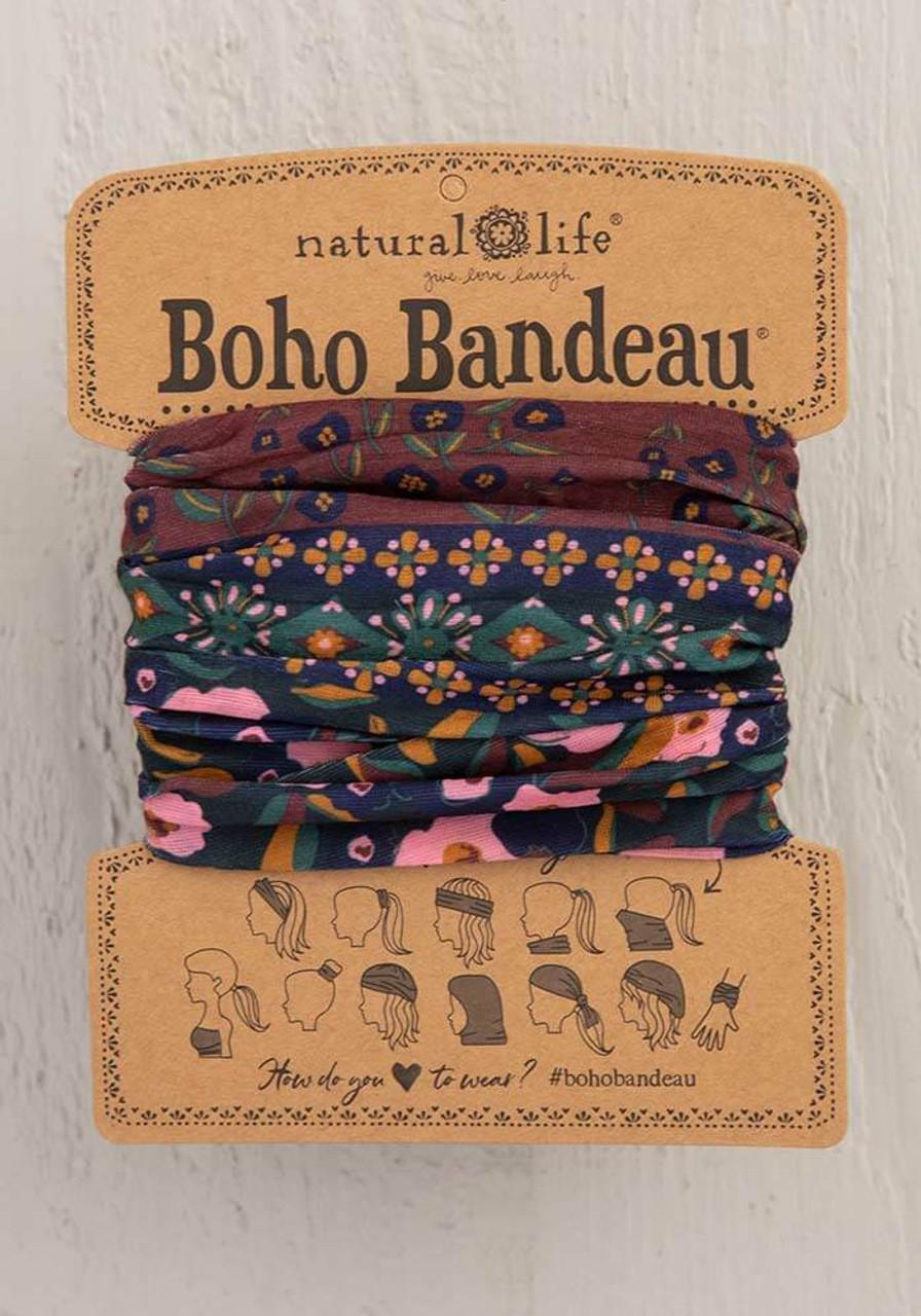 Wine Floral Border Boho Bandeau