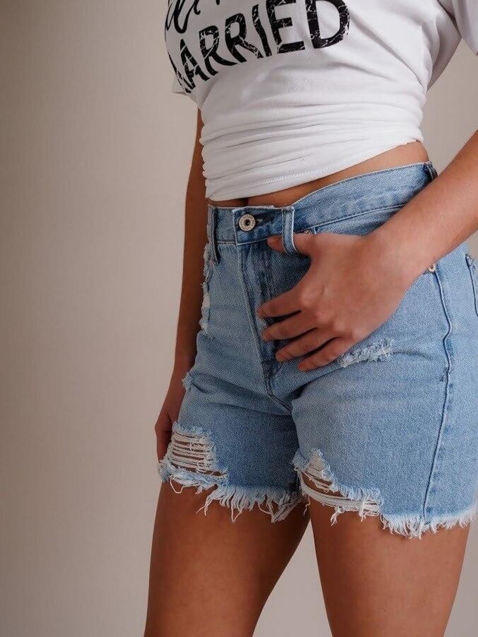 High-Rise Denim Cutoff Shorts