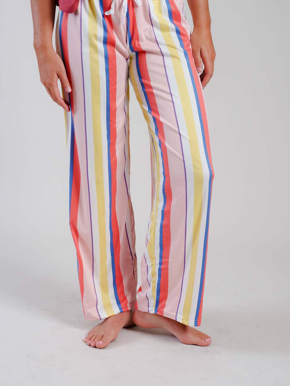 multi stripe lounge pant