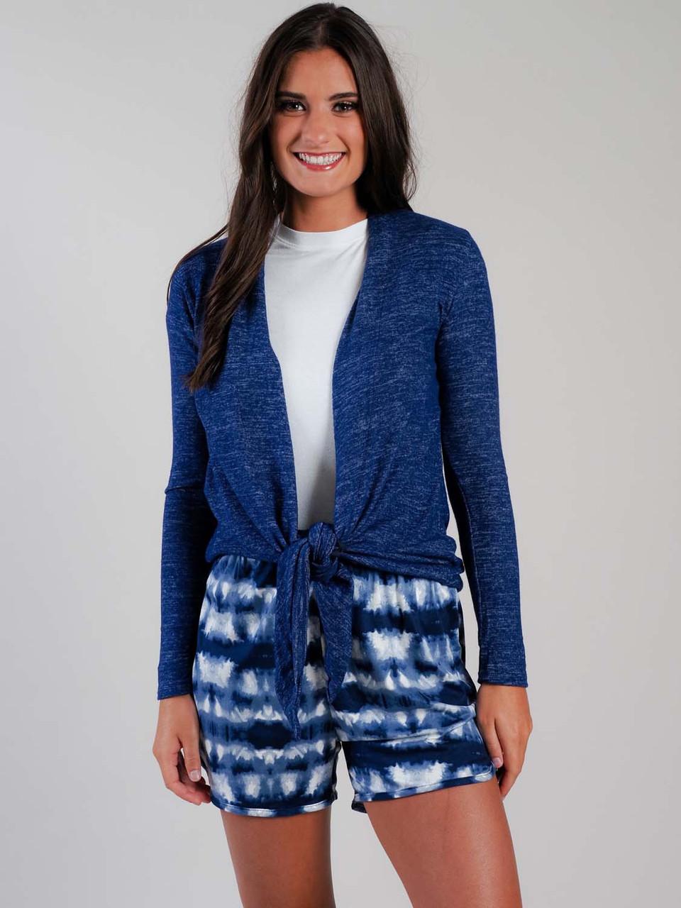 navy tie-dye lounge short pajama short