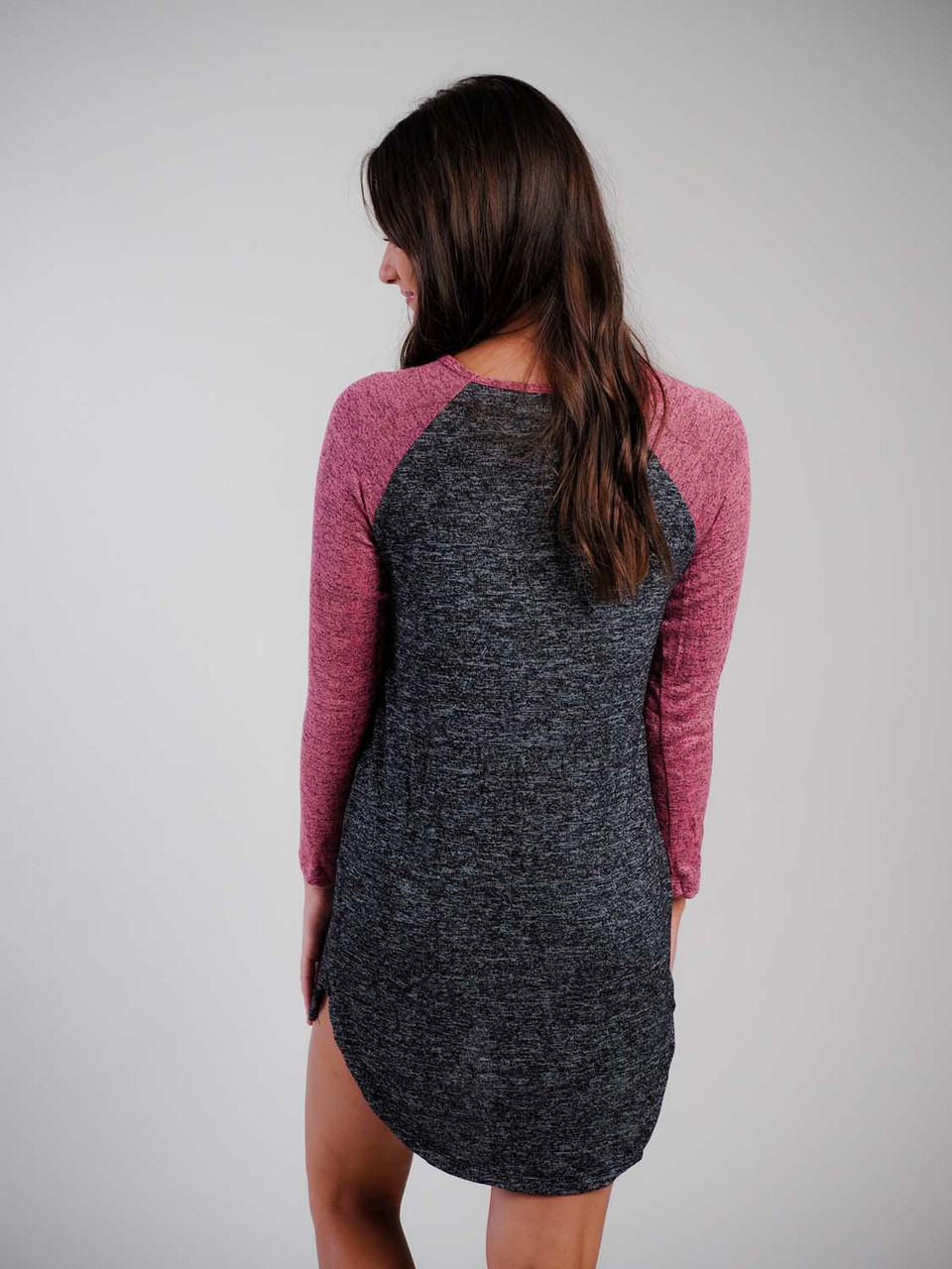 black pink sleep shirt