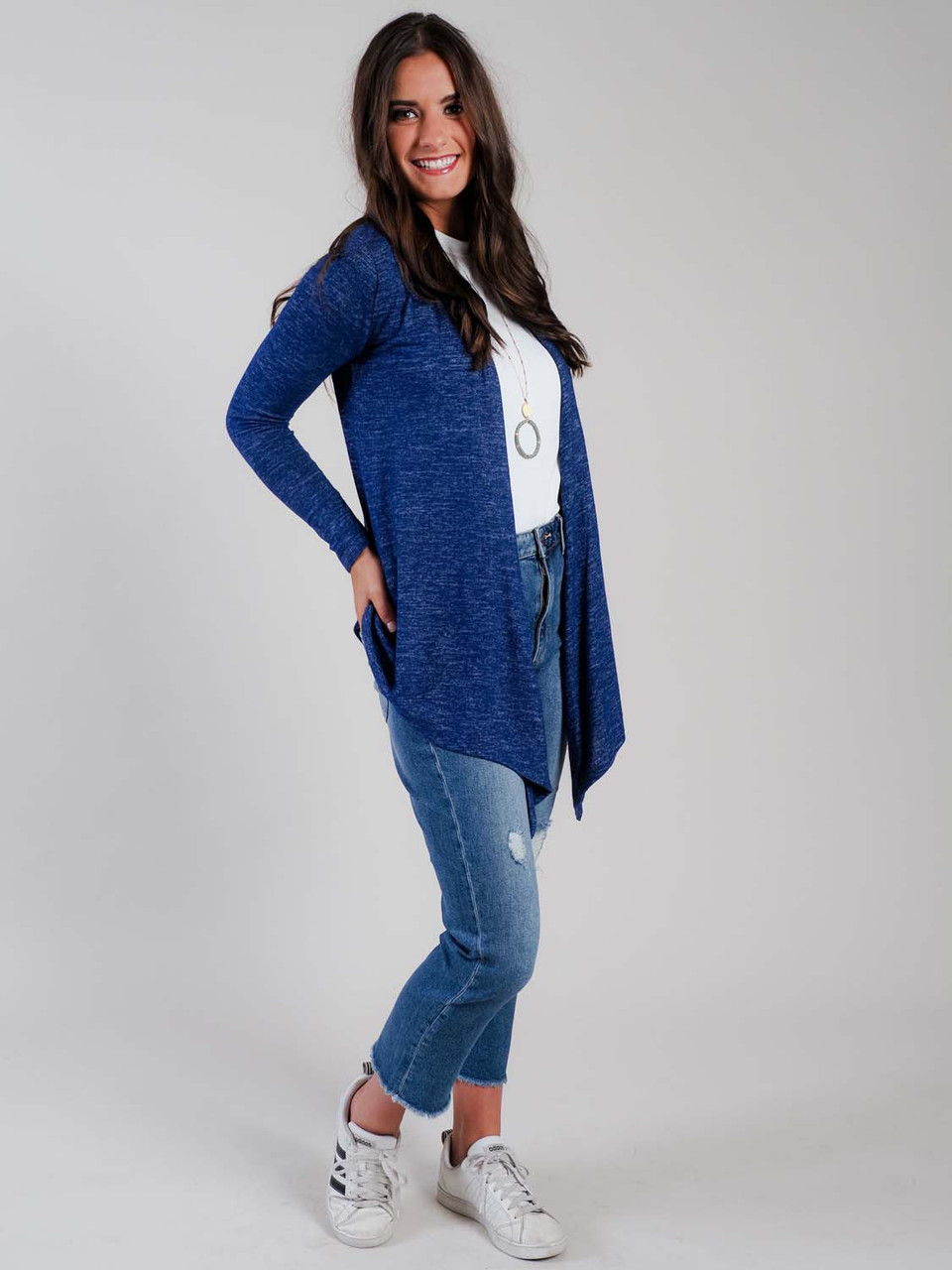 navy lightweight cardigan loungewear