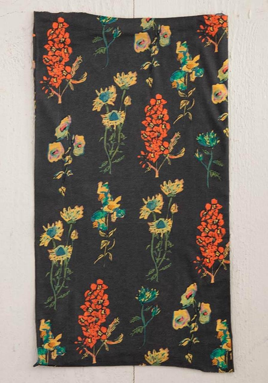 Charcoal Floral Boho Bandeau