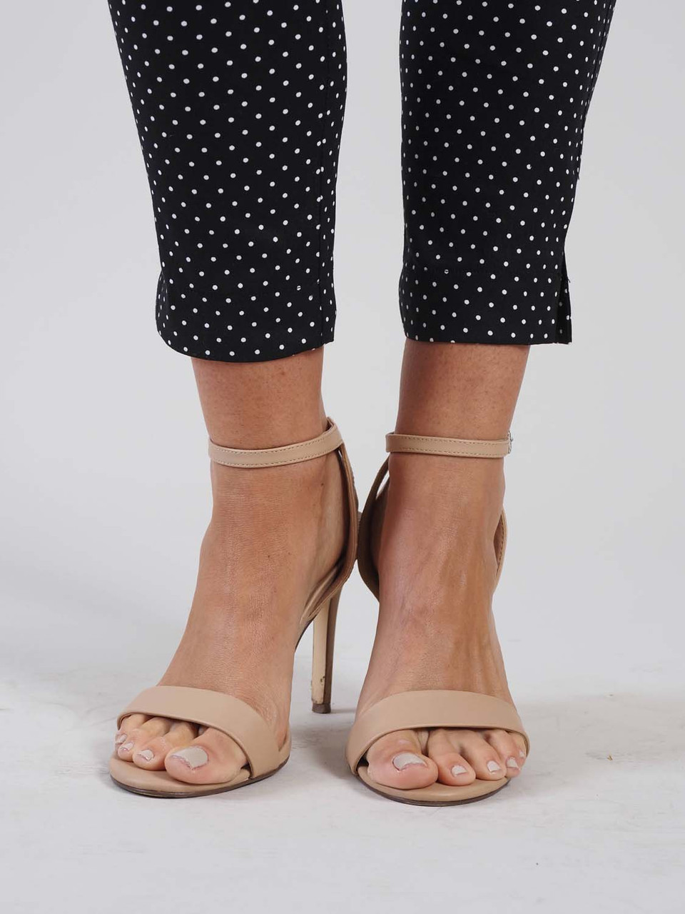 black and white polka dot stretch pant andre by unit