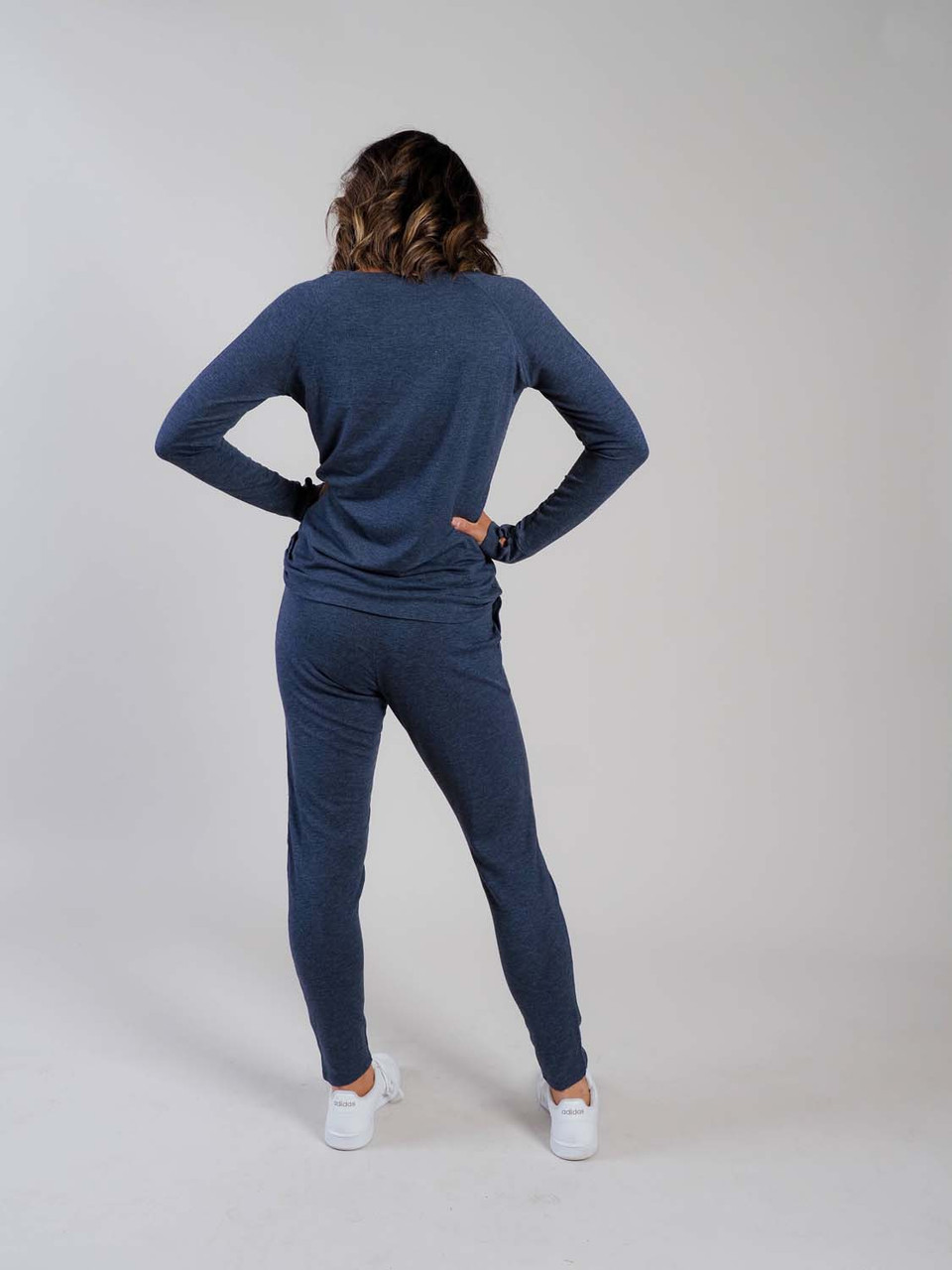 navy raglan sleeve top loungewear