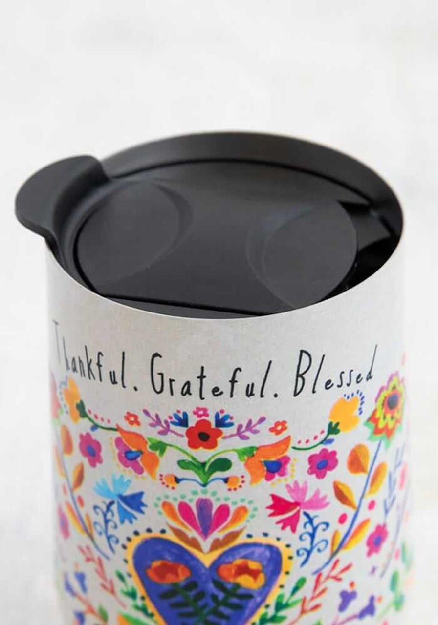 Thankful.Grateful.Blessed Wine Tumbler