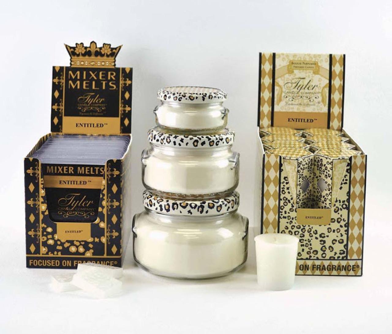 3.4 oz Entitled Candle  Tyler Candle Company