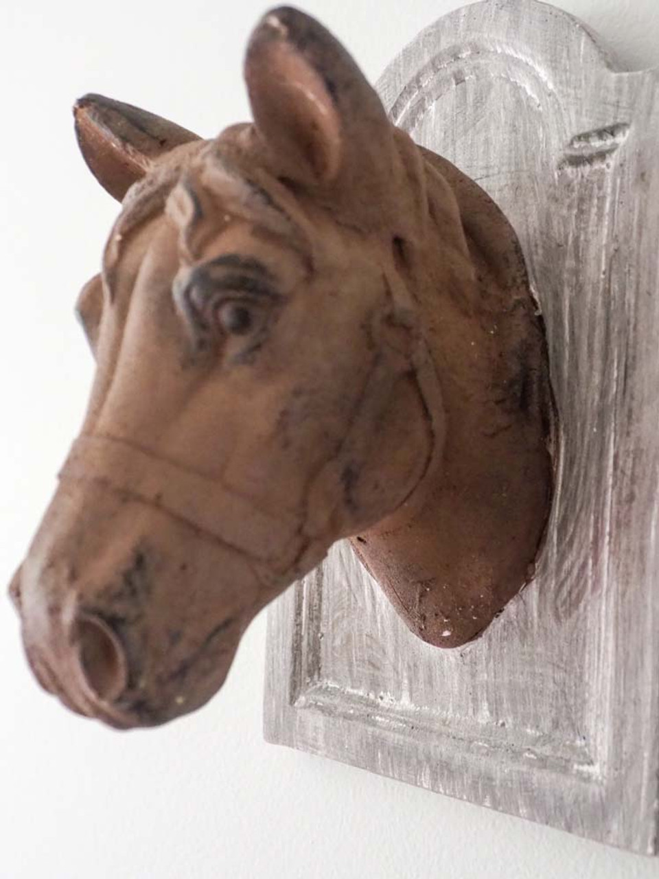 horse head on plaque wall hanging