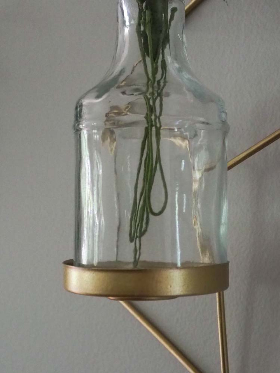 gold geometric wall hanging bud vase