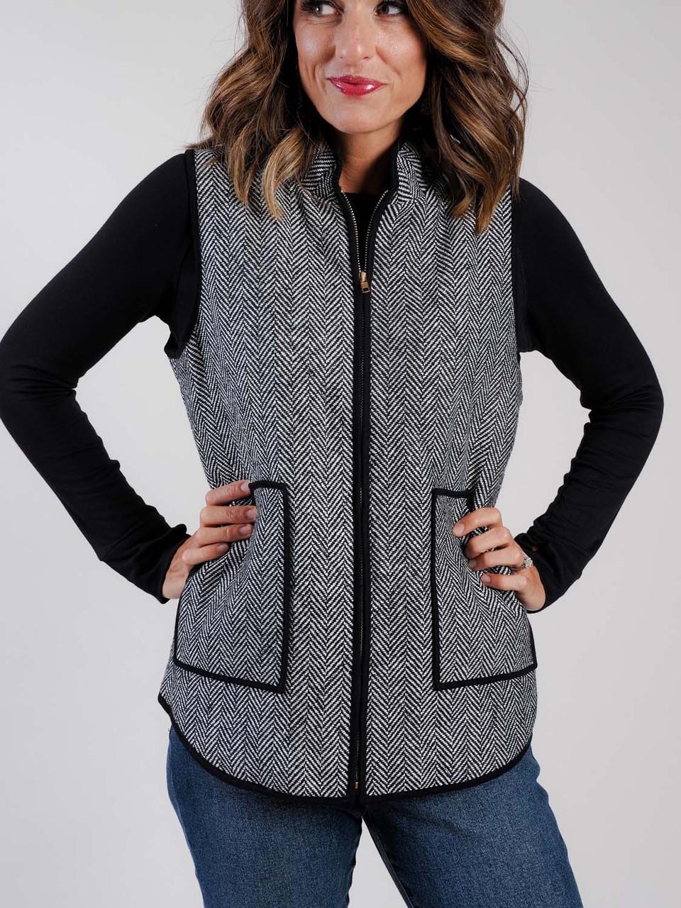 herrringbone vest