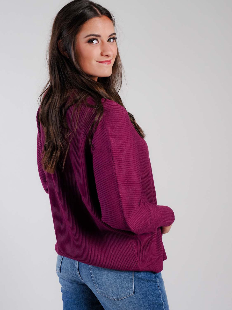 staccato plum cardigan