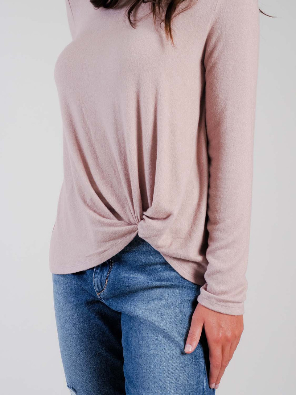 mudpie knotted top in mauve
