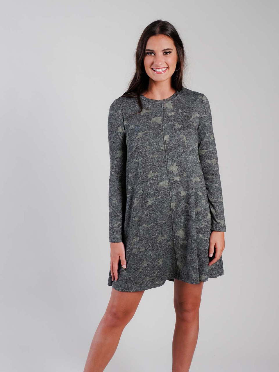 camo print shift dress Mudpie