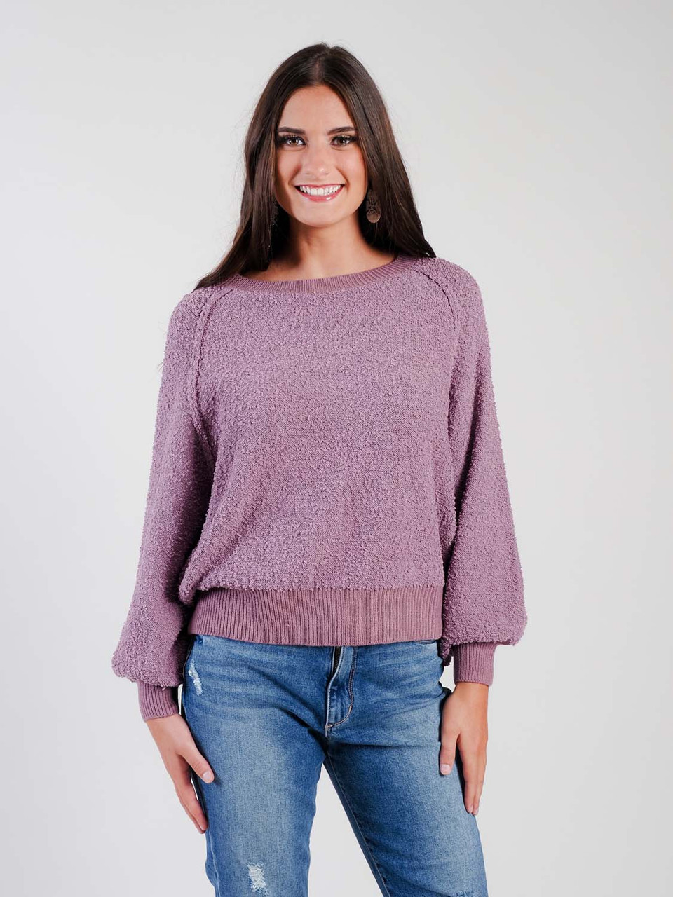 Umgee mauve sweatshirt material