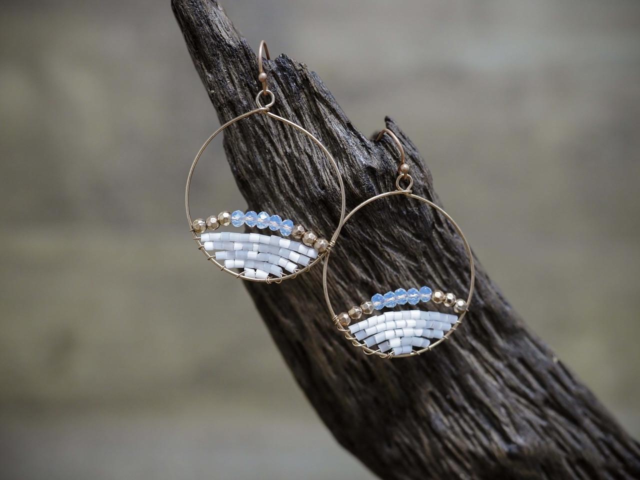 Beaded Circle Earring