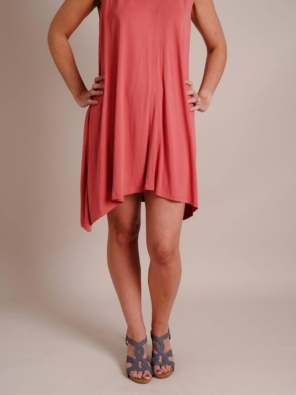 Double V-Neck Comfy Dress