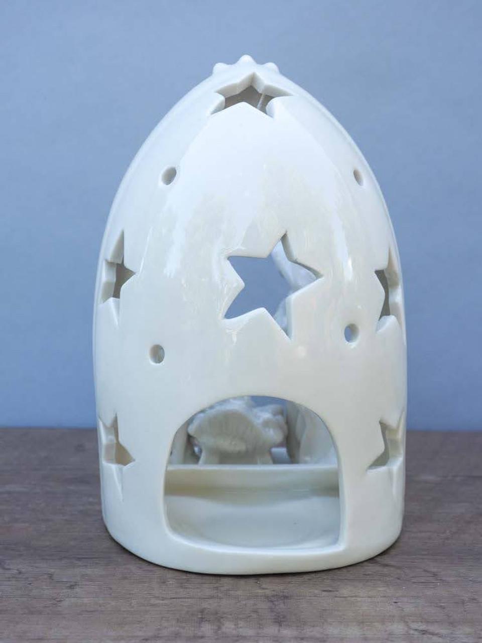 "6-1/2""H Nativity Tealight Holder"