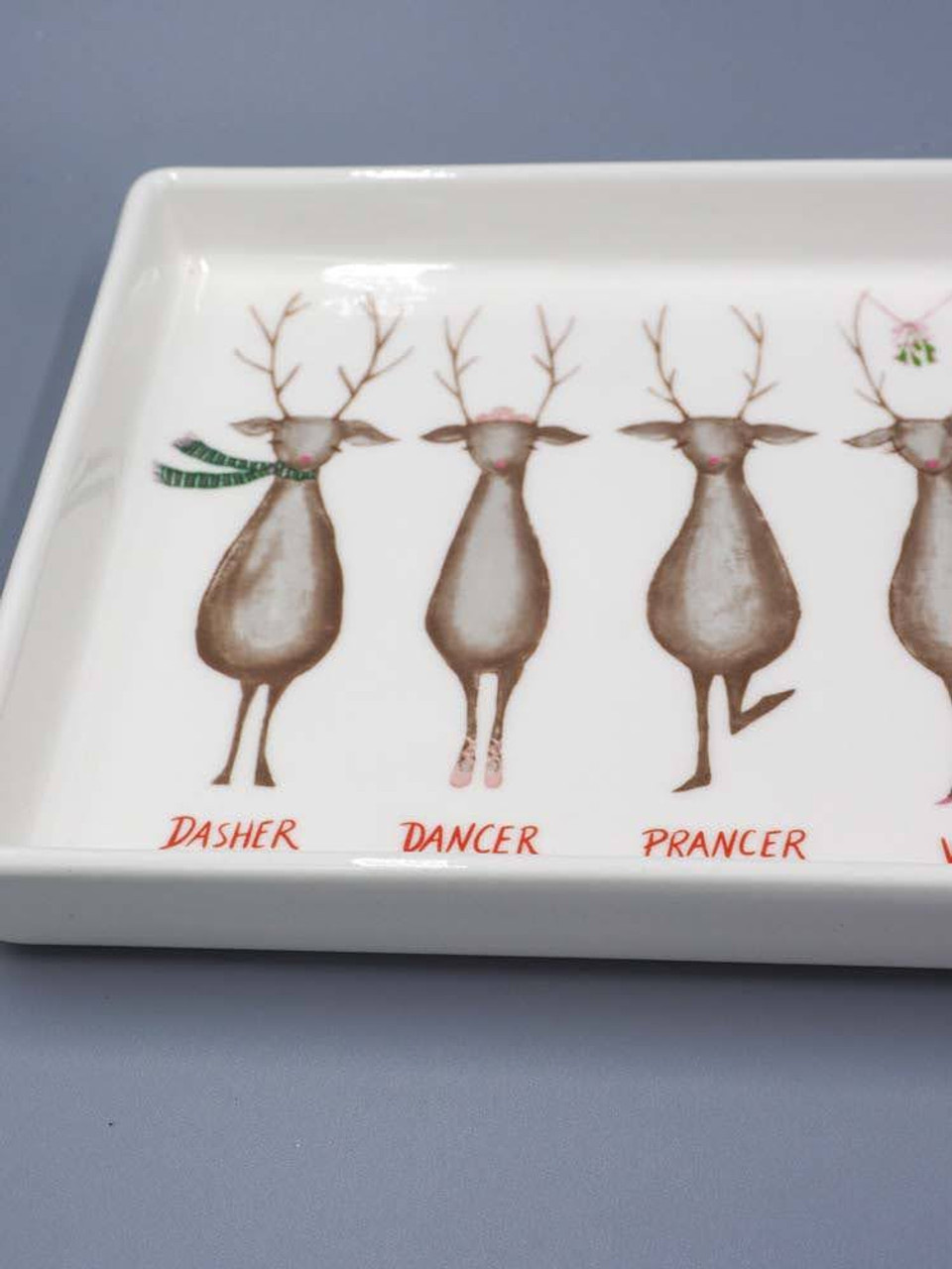 Platter with Santa's Reindeer