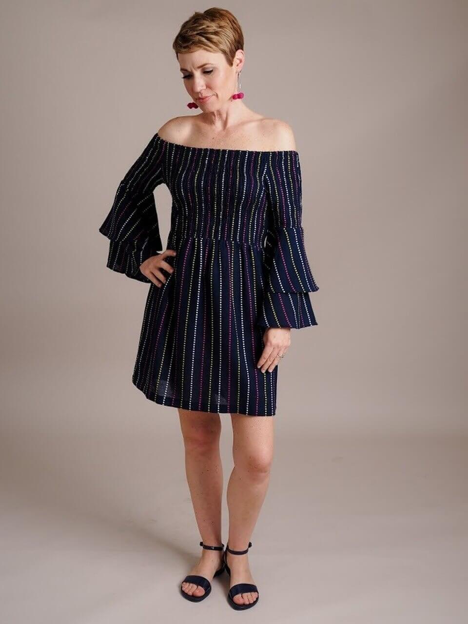 Desi Off-The-Shoulder Dress