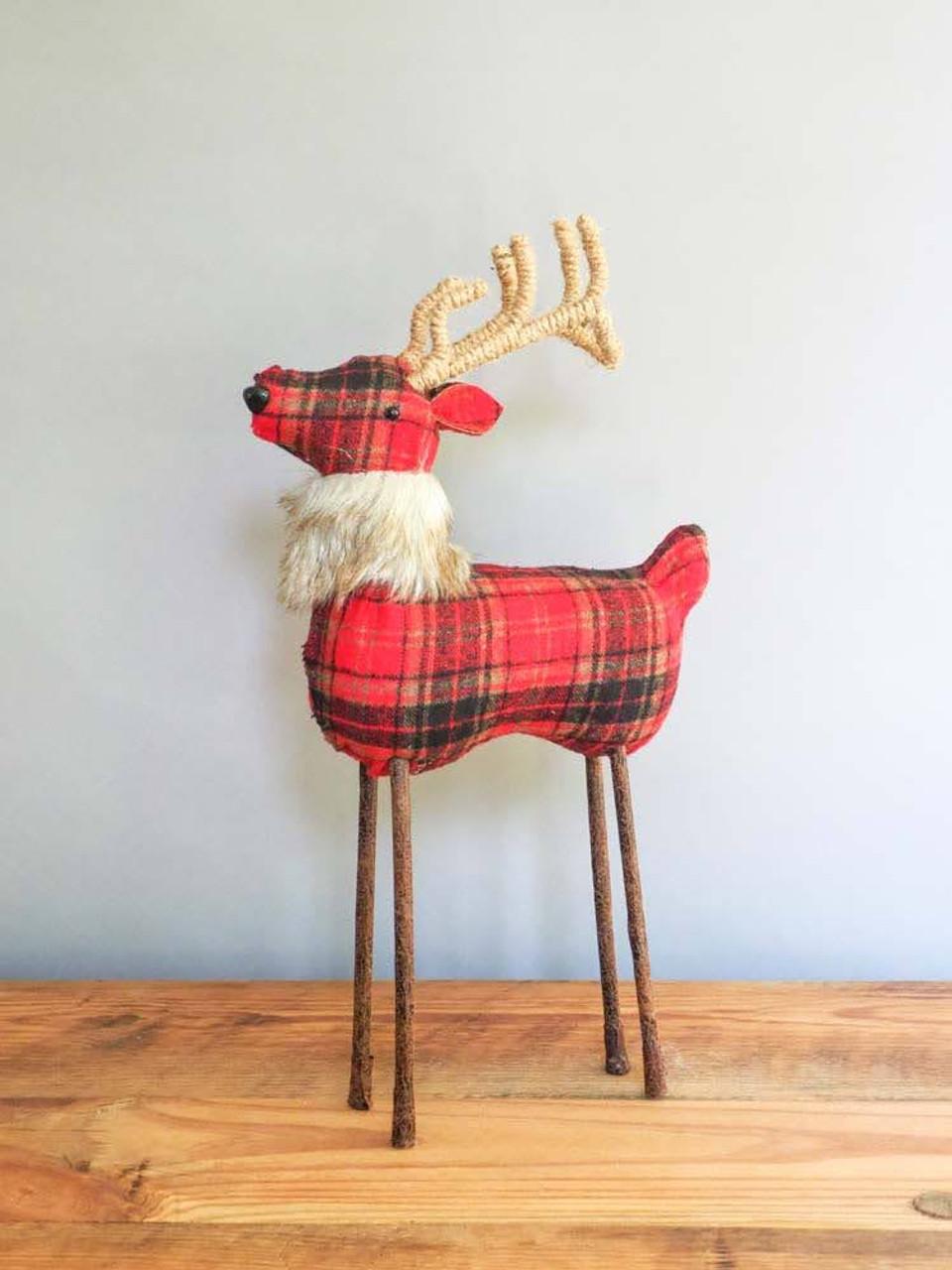 Red Plaid Reindeer