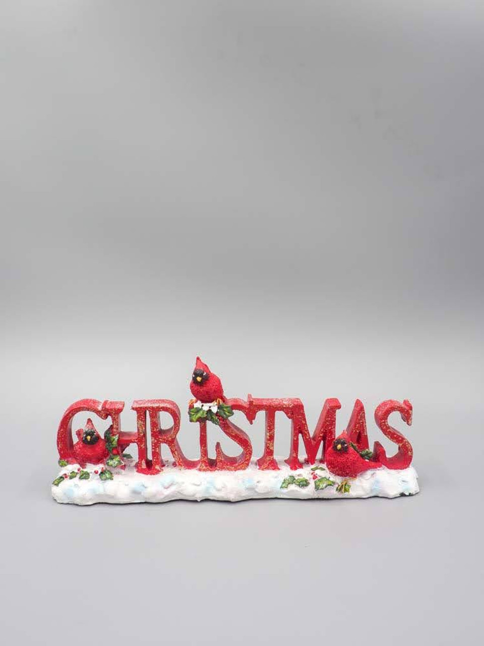 Red Glittered Christmas Tabletop