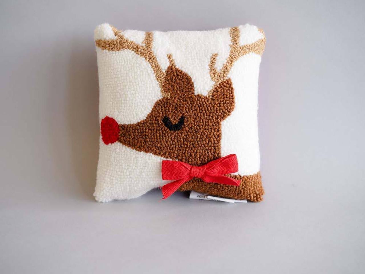 Reindeer Mini Hook Pillow