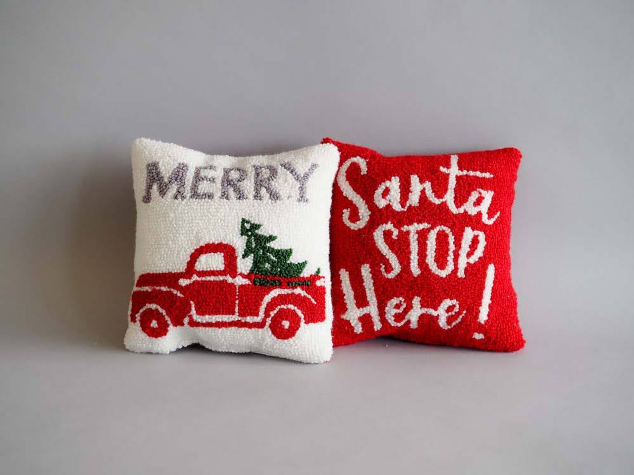 Santa Stop Mini Hook Pillow