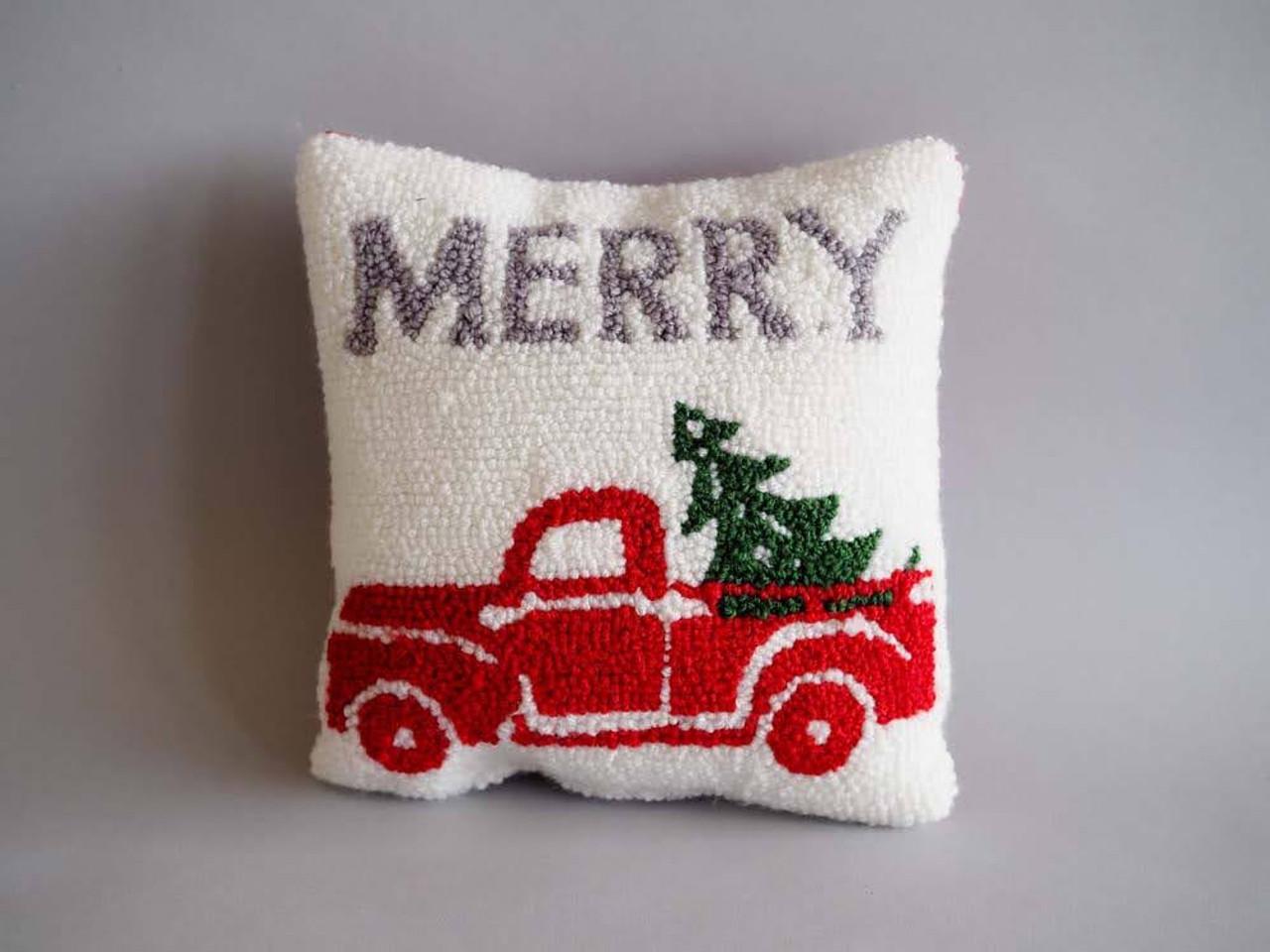 Merry Truck Mini Hook Pillow