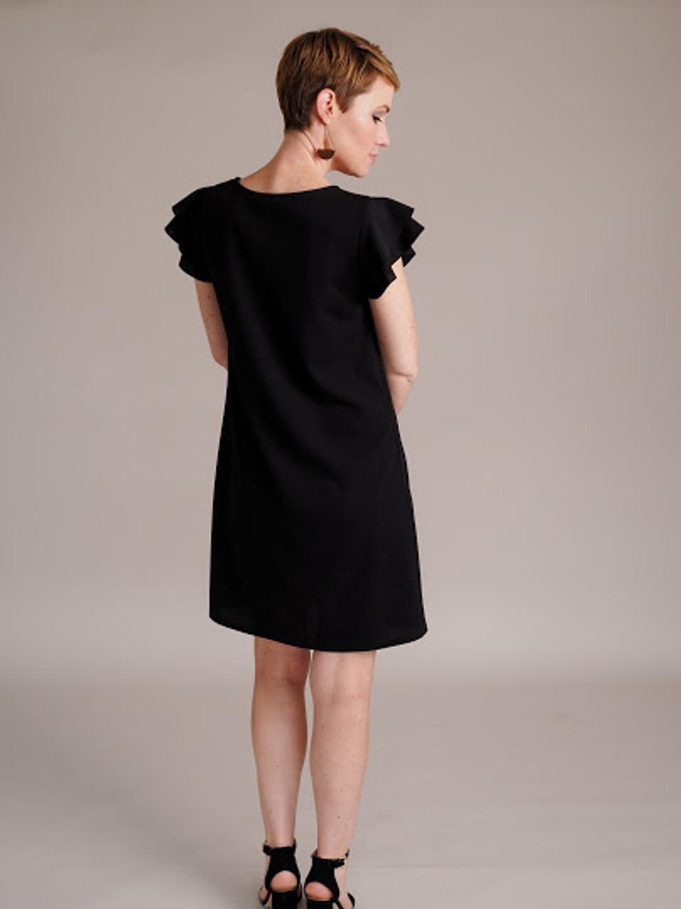 Ruffled Short Sleeve Dress