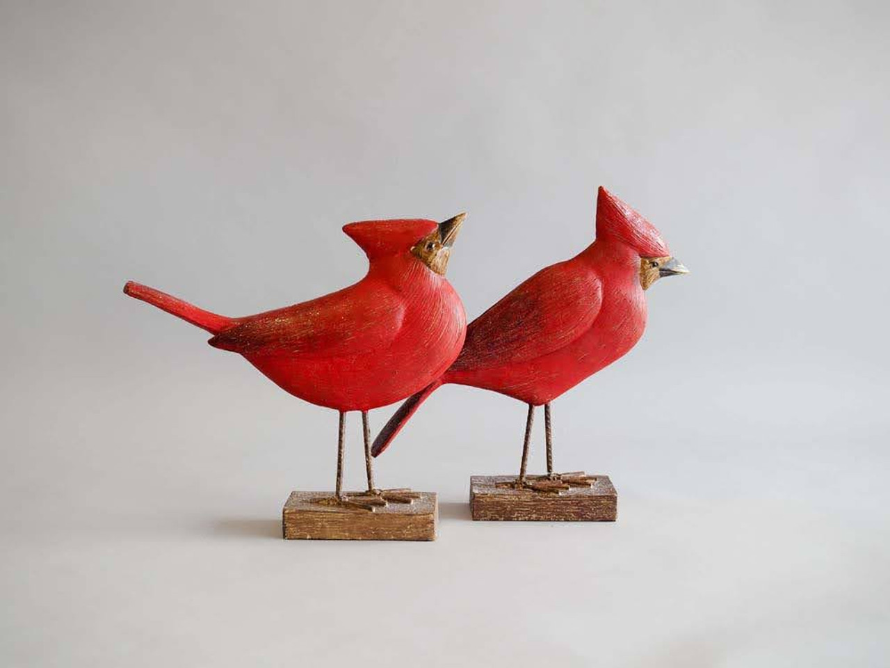 Cardinal on Stand -10 Inch
