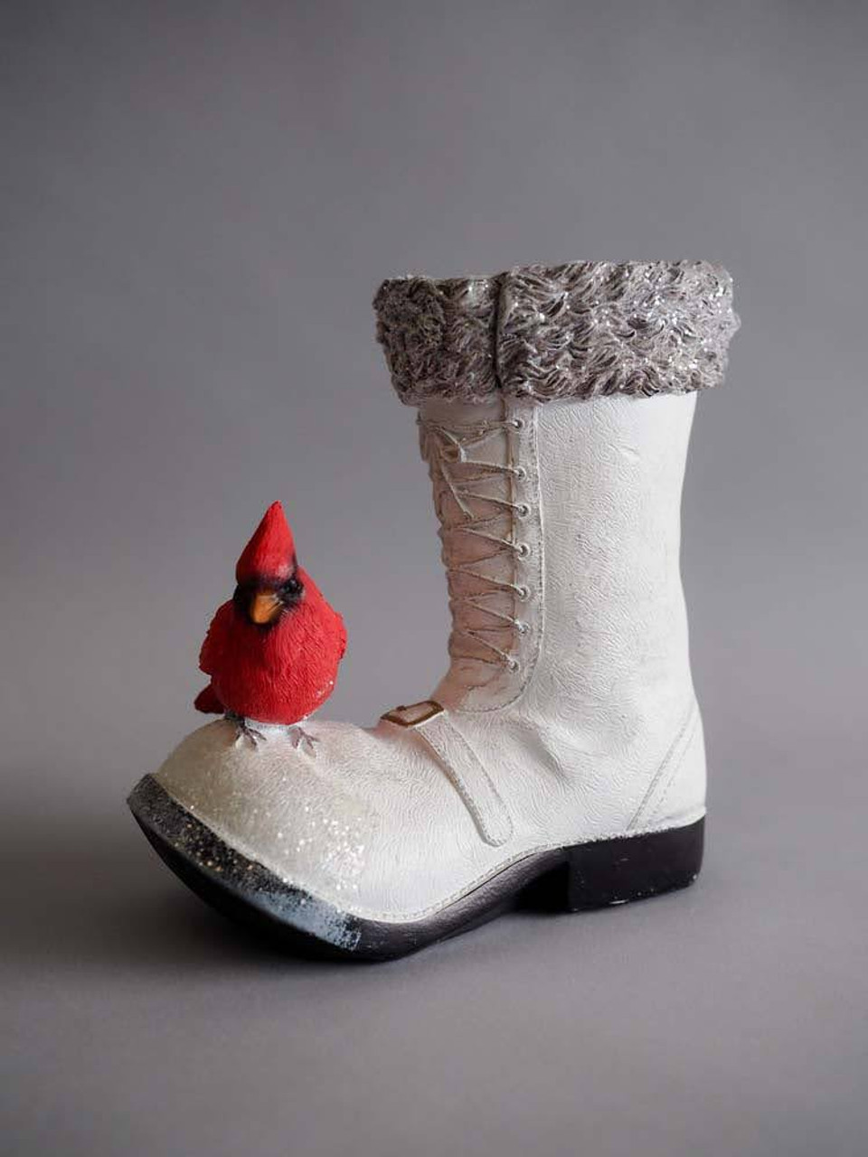 Vintage Snow Boot with Cardinal