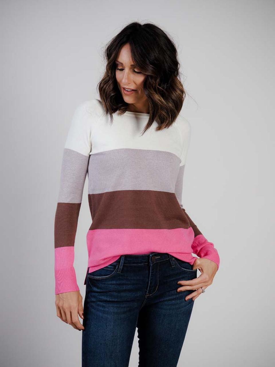 multi-color block sweater staccato