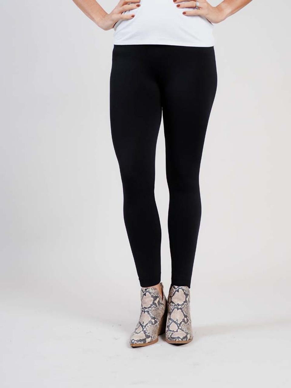 black fleece lined leggings britt's knits