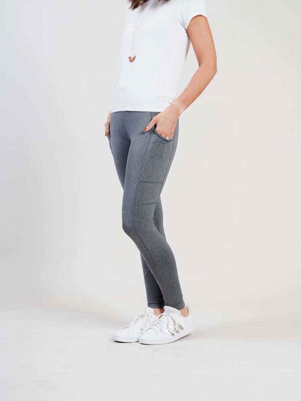 grey athletic leggings