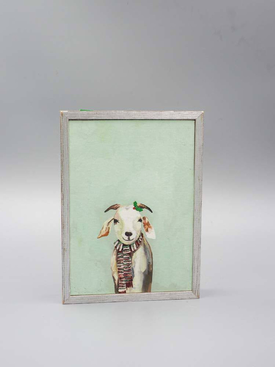Festive Goat Embellished Mini Framed Canvas