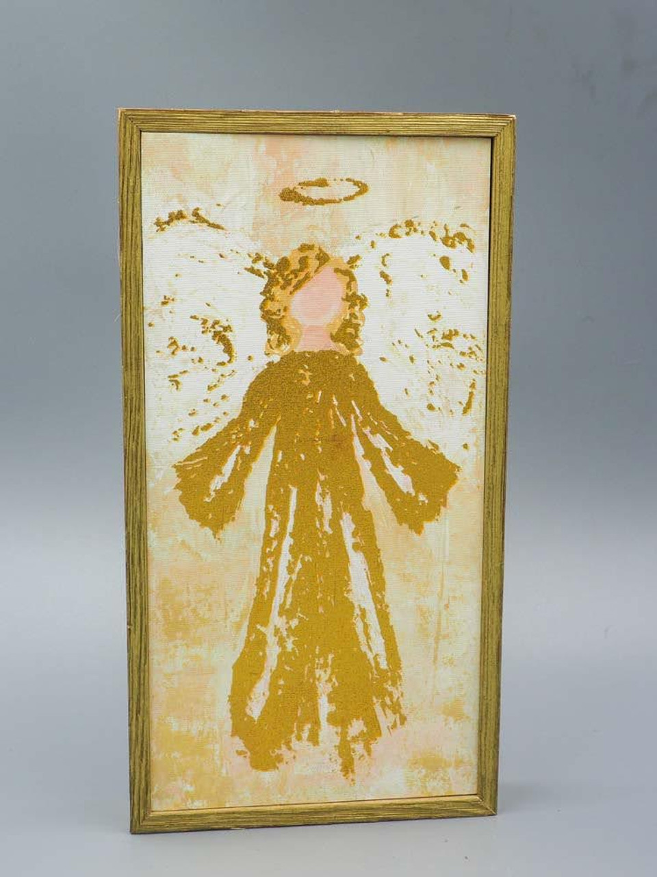 Glory Angel Gold Embellished Mini Framed Canvas