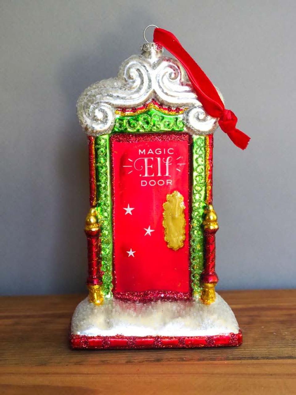 Magic Elf Door Glass Ornament