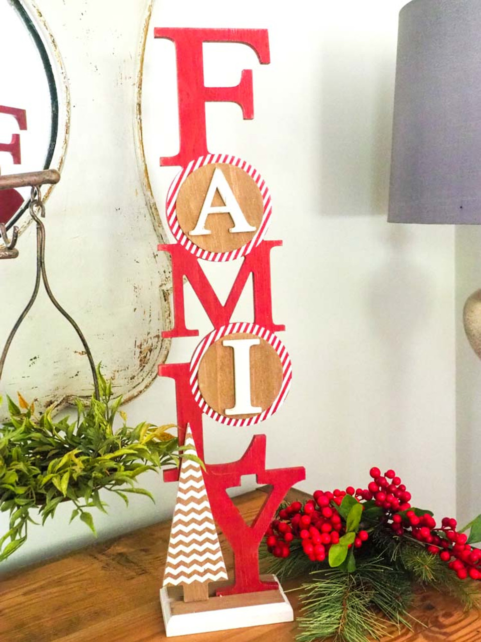 wooden family sign