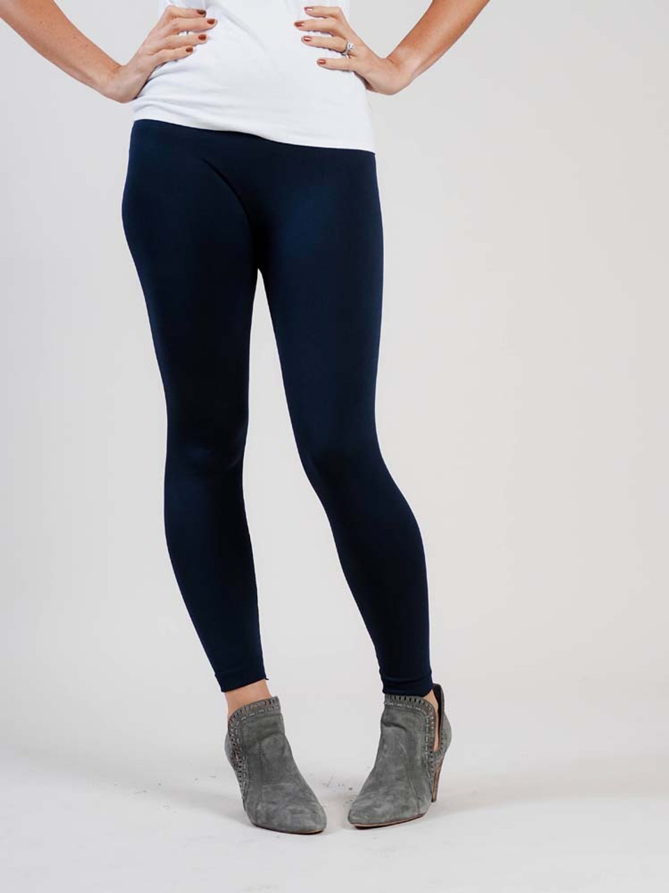 navy fleece lined leggings