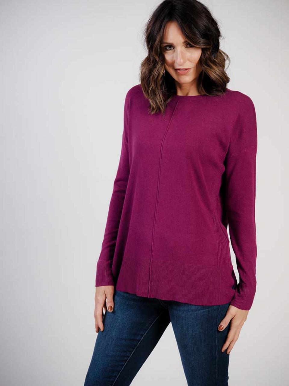 plum lightweight sweater