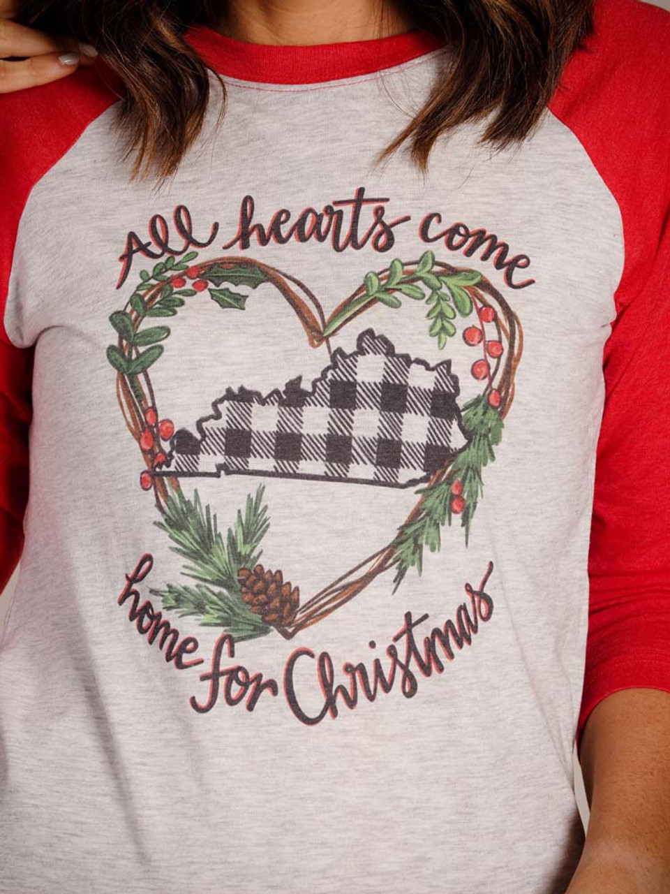 all hearts come home for Christmas graphic tshirt