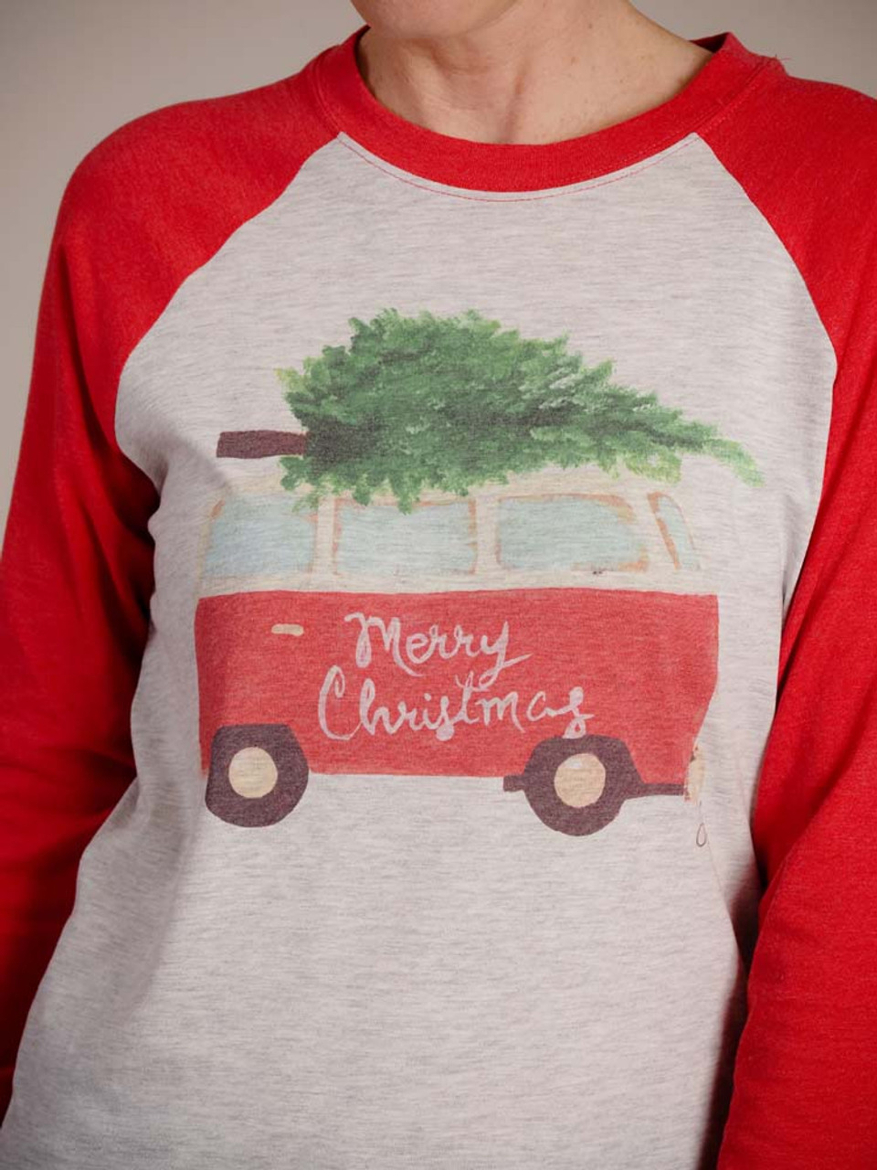 Christmas graphic Tshirt with tree on van